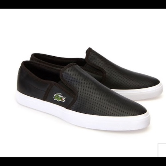 21b2fd67c Lacoste Other - 🐊Lacoste Mens gazon leather slip-ons